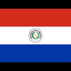 Mund- mit der Flagge Paraguay