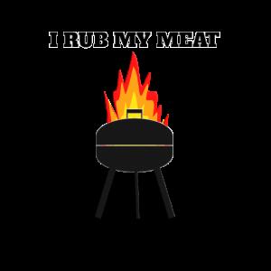 grillmotiv mit flammen ich reibe mein fleisch