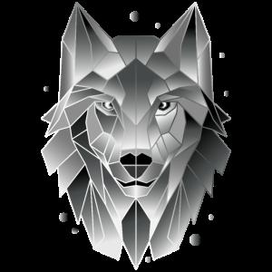 Wolf T-Shirt Polygon Geometrisch Geschenk