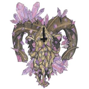 Die Farbe Kristall Widder