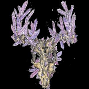 Der farbige Kristallhirsch