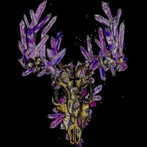 Der gruselige Kristallhirsch