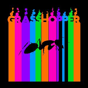 Grasshopper Farbige Blasen und Bubbles