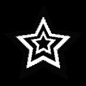 Schwarzweiss-Sterne