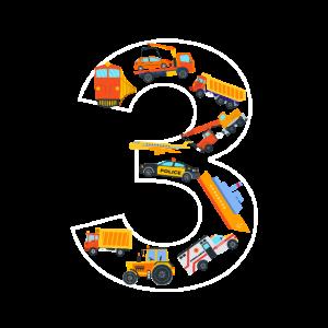 Kinder Geburtstag 3 Jahre Fahrzeuge Jungen