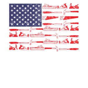 American Flag Woodworking Gift Carpenter Wood Work