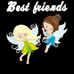 Beste Freunde Mädchen Frauen Geschenk Feen