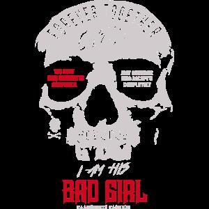 Bad Girl Partnerlook Design Skull Motiv