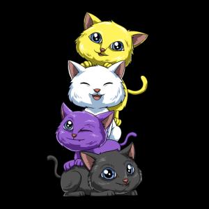 Nonbinary Katzen - Nicht Binär Katzen Shirt