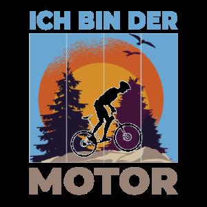 Ich bin der Motor - Fahrrad Fahrradfahrer