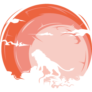lion sunset animals symbol art