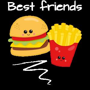 Beste Freunde Freundschafts Geschenk Pommes Burger
