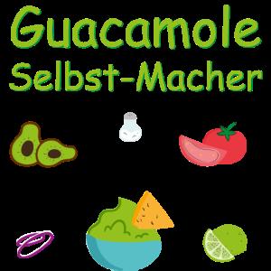 Guacamole Selbst-Macher Avocado Zutaten