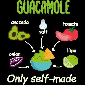 Guacamole Selbst machen Avocado Zutat mexikanisch