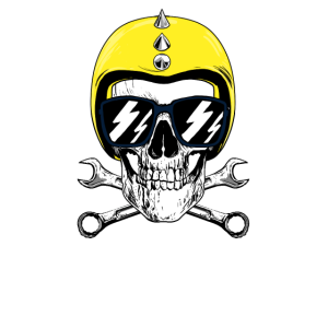 IFA Szene Ostwürttemberg Motorrad Helm Totenkopf