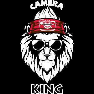 Camera King - cooler Hippie Löwe mit Fotokamera