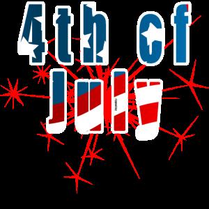 4. Juli Unabhängigkeitstag Flagge