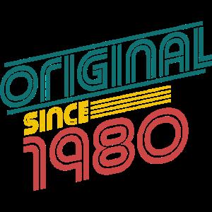 Original 1980- 40. Geburtstag Vintage Geschenk