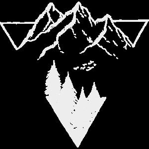 Dreieck, Berge & Wald