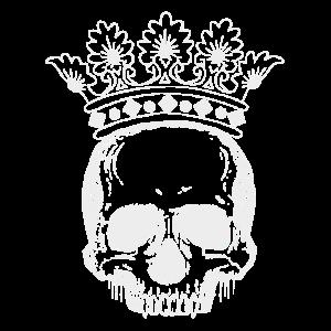 Skull Crown white