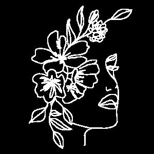 Blumengesicht Zeichnung Minimalistisch