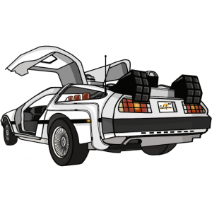 deLorean Auto Illustration