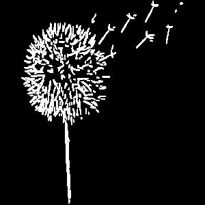 Linie - Blume - weiß