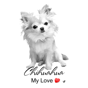 Chihuahua Abbildung mit Inschrift