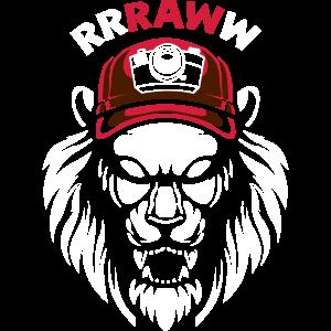 Brüllender Fotokamera Löwenkopf
