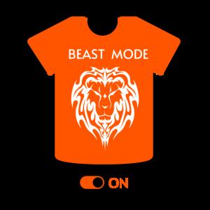 """""""Beast Mode Orange"""" Löwengesicht Illustration Design"""