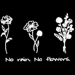 No rain. No flowers. - Green Nature Earth in White