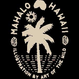 Mahalo Hawaii Abzeichen