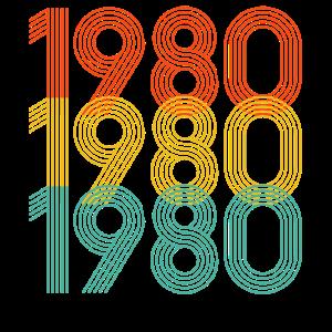 1980 geboren, Geburtsjahr, 40. Geburtstag Geschenk
