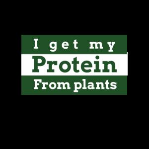 Ich bekomme mein Protein aus Pflanzen