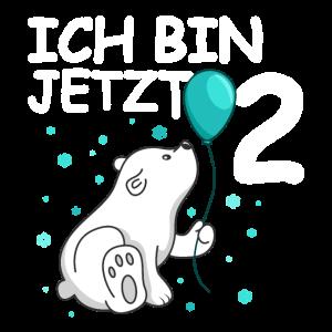 Ich bin 2 Jahre Geburtstags Eisbär 2. Geburtstag
