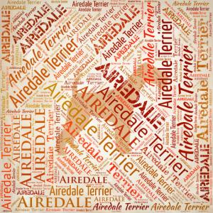 Airedale Terrier Wortkunst