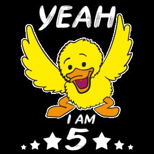 5 Geburtstag glückliche Ente Kindergeburtstag
