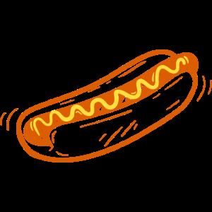 Hot Dog Zeichnung