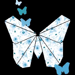 schmetterling blumen origami