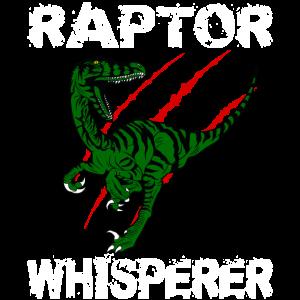 Raptor Flüsterer Geschenkidee design Motiv