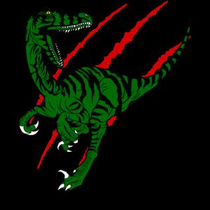 Raptor Dinosaurier Geschenkidee design Motiv