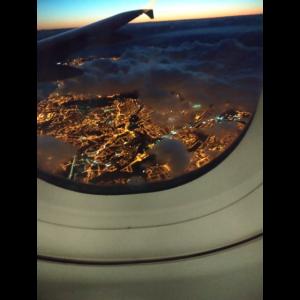 Eine Luftaufnahme aus einem Flugzeug