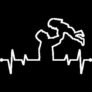 Herzfrequenz von Vater und Tochter