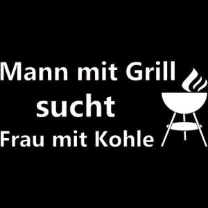Mann mit Grill