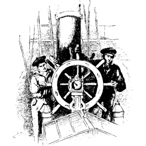 sailors at the helm