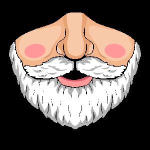 Schnauzengesichtsmaske des Weihnachtsmanns