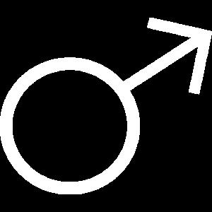 Mann Männer männliches Zeichen weiß Geschenk