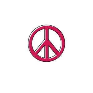 Peace Zeichen in Pink