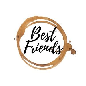 Best Friends Logo, Gold, Watercolour