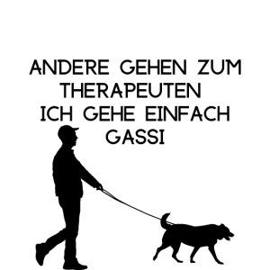 Gassigehen, Hunde Spruch Tshirt Logo Gassi